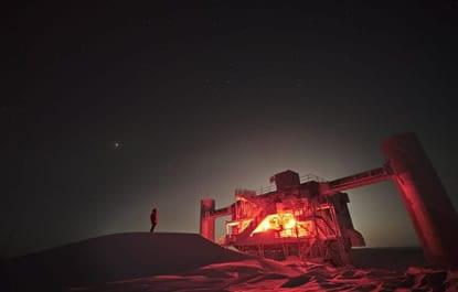 IceCube Antarctic neutrino detector