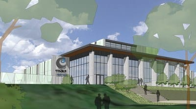 Rendering of Exact Sciences laboratory facility to be built at 650 Forward Drive in Madison, Wis.