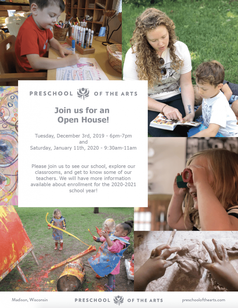 Preschool of the Arts Open House