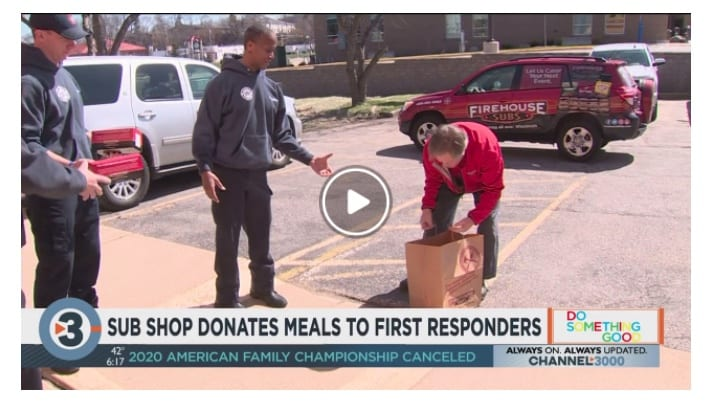 Firehouse Sub Shop donating