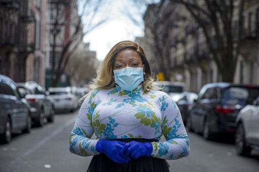 "Tiffany Pinckney, from the Harlem neighborhood of New York, became one of the nation's first donors of ""convalescent plasma."" Using the blood product is experimental but scientists hope it could help treat those seriously ill with COVID-19 and they plan to test if it might offer some protection against infection for those at high risk. ASSOCIATED PRESS"