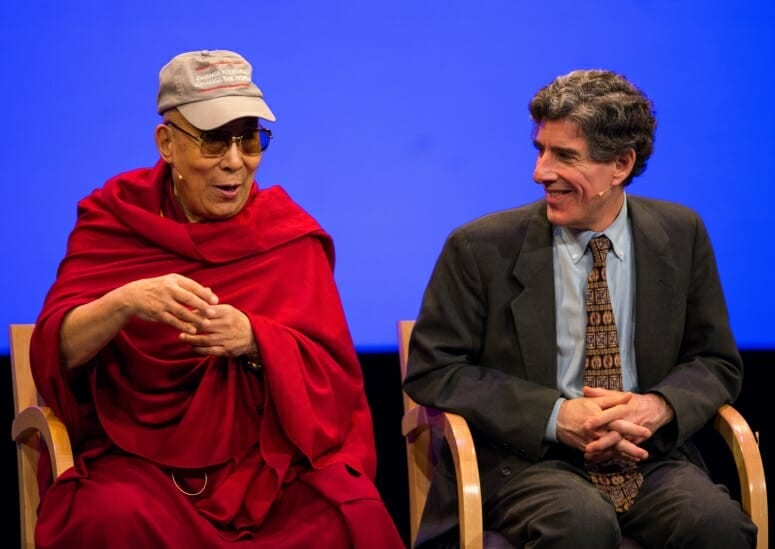 The Dalai Lama and Richard Davison, 2016