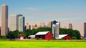 Farm and city image