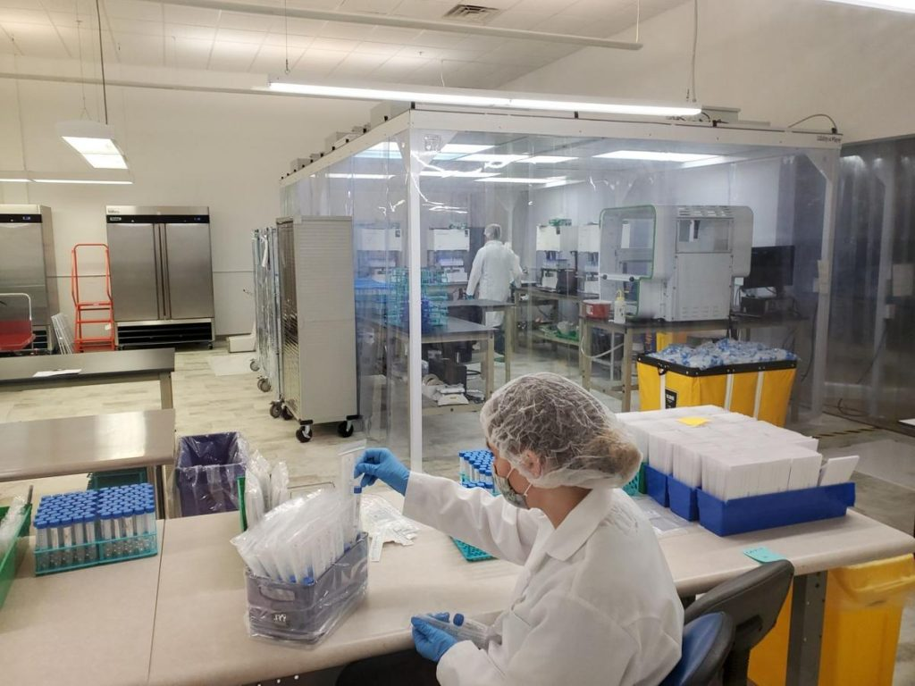 Gentueri, which has been making swabs used in COVID-19 tests, moved in September to a facility in Verona. GENTUERI