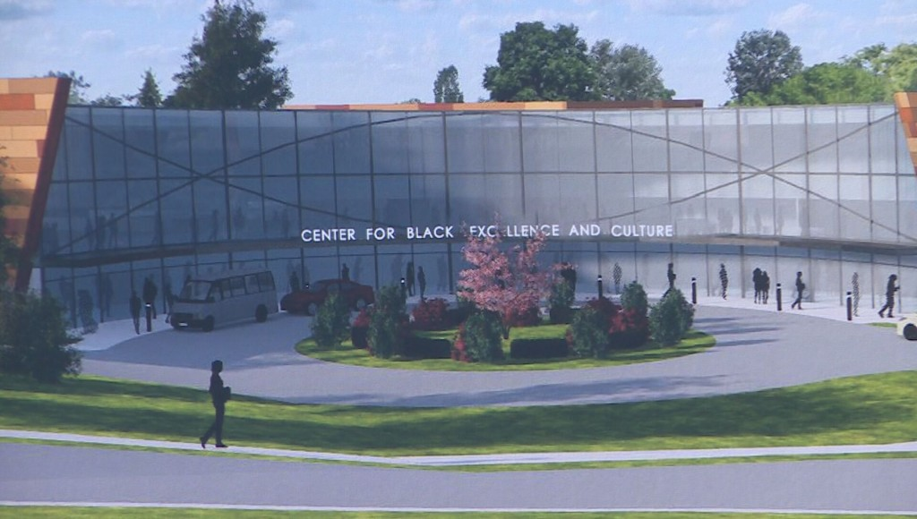 Rendering of the future Center for Black Excellence and Culture on Madison's south side