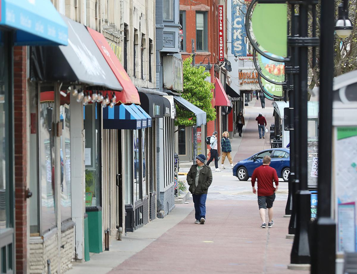 Small businesses line State Street in Madison. JOHN HART, STATE JOURNAL