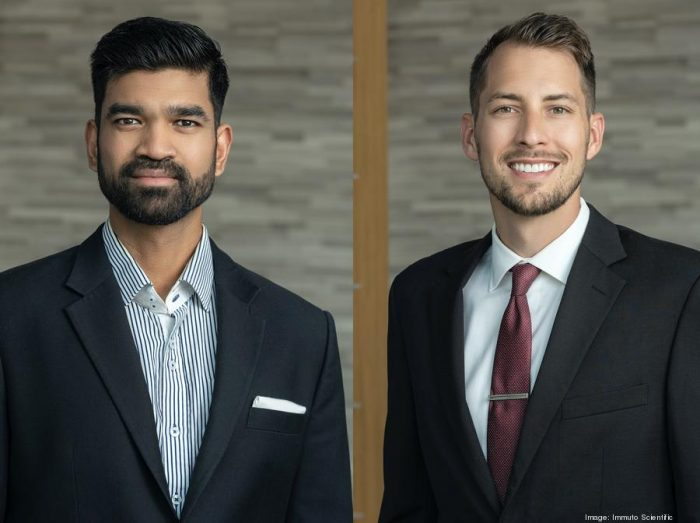 Immuto Scientific co-founders Faraz Choudhury (left) and Daniel Benjamin Kyle Wege, Crimson Sun Studios